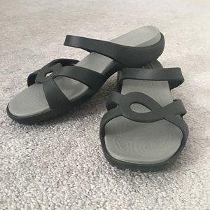 16a50f41a84d CROCS Shoes - Gray Croc Sandals